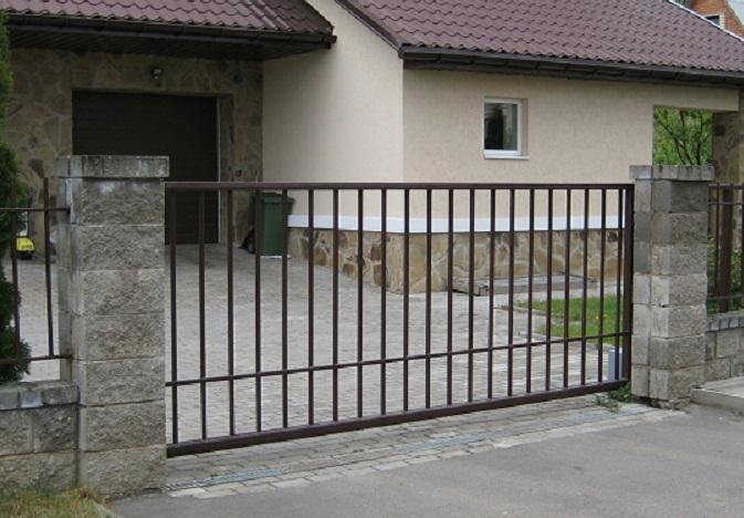 Откатные ворота из решетчатые