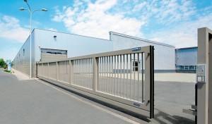 откатные ворота промышленные