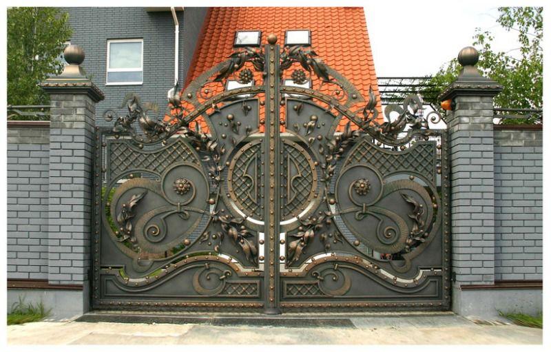 Художественная ковка распашных ворот