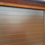 Ворота херман EPU, Micro Grain, М-гофр, коречневый цвет