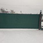 откатные ворота из профлиста с электроприводом
